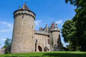 Vue d'un château Breton